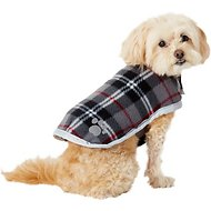 Zack & Zoey Reversible Nor'easter Dog Blanket Coat, Silver, X-Small