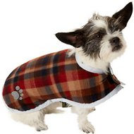 Zack & Zoey Reversible Nor'easter Dog Blanket Coat, Green, X-Small