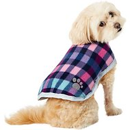 Zack & Zoey Reversible Nor'easter Dog Blanket Coat, Purple, X-Small