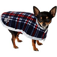 Zack & Zoey Reversible Nor'easter Dog Blanket Coat, Dark Red, X-Small