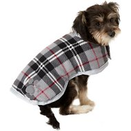 Zack & Zoey Reversible Nor'easter Dog Blanket Coat, Silver, Small