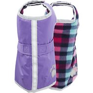 Zack & Zoey Reversible Nor'easter Dog Blanket Coat, Small, Purple