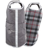 Zack & Zoey Reversible Nor'easter Dog Blanket Coat, Silver, Small/Medium