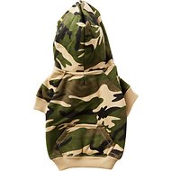 Casual Canine Camo Dog Hoodie, X-Small, Green