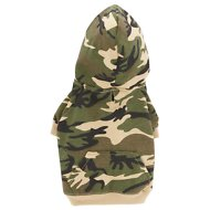 Casual Canine Camo Dog & Cat Hoodie, Small, Green