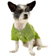Zack & Zoey Polo Dog & Cat Shirt, Green, Small