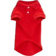 Zack & Zoey Polo Dog & Cat Shirt, Red, Small