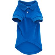 Zack & Zoey Polo Dog Shirt, Medium, Blue