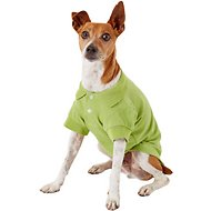 Zack & Zoey Polo Dog & Cat Shirt, Green, Medium