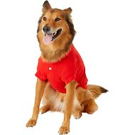 Zack & Zoey Polo Dog & Cat Shirt, Red, Large