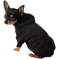 Zack & Zoey Basic Dog & Cat Hoodie, Black, X-Small
