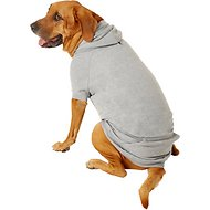Zack & Zoey Basic Dog & Cat Hoodie, Gray, XX-Large