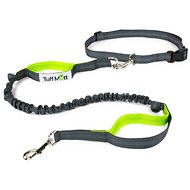 Tuff Mutt Hands-Free Bungee Leash, Gray & Green