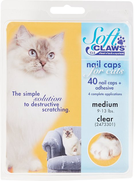 1. Soft Claws Clear Cat Nail Caps