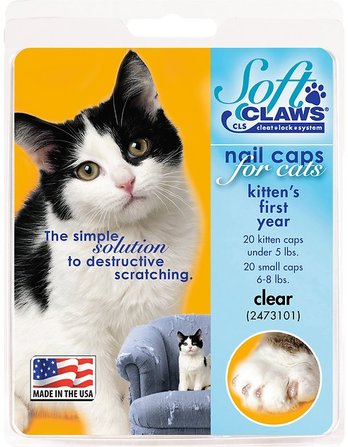 2. Soft Claws Clear Nail Caps for Kittens