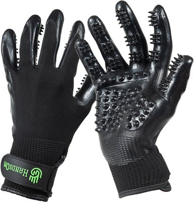 4. HandsOn All-In-One Bathing & Grooming Gloves