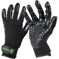 HandsOn All-In-One Bathing & Grooming Gloves, Medium