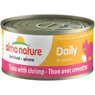 Almo Nature Daily Tuna with Shrimp in Broth Grain-Free Canned Cat Food, 2.47-oz, case of 12