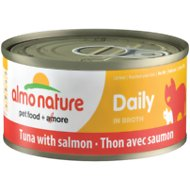 Almo Nature Daily Tuna with Salmon in Broth Grain-Free Canned Cat Food, 2.47-oz, case of 12