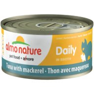 Almo Nature Daily Tuna with Mackerel in Broth Grain-Free Canned Cat Food, 2.47-oz, case of 12
