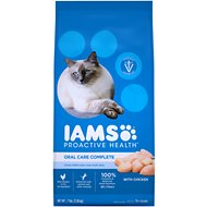 Iams ProActive Health Adult Cat Oral Care Chicken Dry Cat Food, 7-lb bag