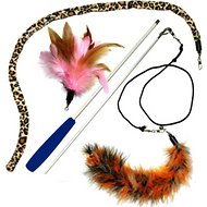 Pet Fit For Life 3 Feather Dual Rod Wand Cat Toy