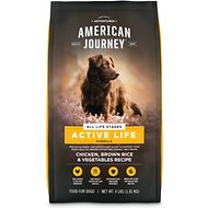 American Journey Active Life Formula Chicken, Brown Rice & Vegetables Recipe Dry Dog Food, 4-lb bag