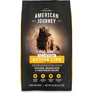 American Journey Active Life Formula All Life Stages Chicken, Brown Rice & Vegetables Recipe Dry Dog Food, 28-lb bag
