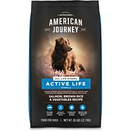 American Journey Salmon & Brown Rice Protein First Recipe Dry Dog Food, 28-lb bag