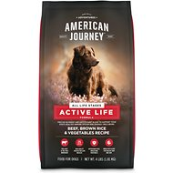 American Journey Active Life Formula Beef, Brown Rice & Vegetables Recipe Dry Dog Food, 4-lb bag