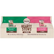 Nutro Hearty Stews Chunks In Gravy Variety Pack: Meaty Lamb & Rice Stew And Chunky Chicken & Turkey Stew Canned Dog Food, 12.5-oz, case of 6