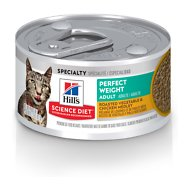 Hill's Science Diet Adult Perfect Weight Roasted Vegetable & Chicken Medley Canned Cat Food, 2.9-oz, case of 24