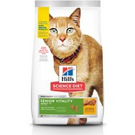 Hill's Science Diet Adult 7+ Senior Vitality Chicken Recipe Dry Cat Food, 13-lb bag