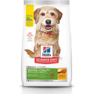 Hill's Science Diet Adult 7+ Senior Vitality Small & Mini Chicken & Rice Recipe Dry Dog Food, 12.5-lb bag
