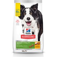 Hill's Science Diet Adult 7+ Senior Vitality Chicken Recipe Dry Dog Food, 21.5-lb bag