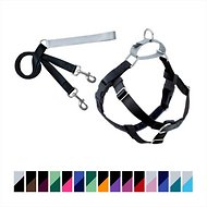 2 Hounds Design Freedom No Pull Dog Harness & Leash, Black, 1-in, Large
