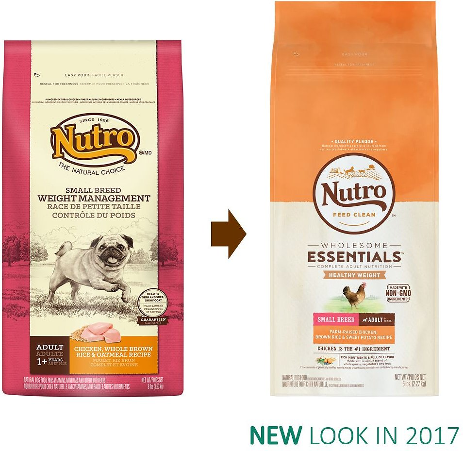 brown rice healthy wholesome †use a standard 8-oz measuring cup, which holds 278 oz of nutro™ small breed adult weight management chicken, whole brown rice & oatmeal recipe dog food.