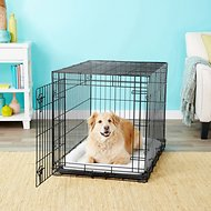 Frisco Heavy Duty Fold & Carry Single Door Collapsible Wire Dog Crate, 36 inch