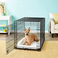 Frisco Heavy Duty Fold & Carry Single Door Collapsible Wire Dog Crate, 42 inch