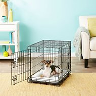 Frisco Heavy Duty Fold & Carry Double Door Collapsible Wire Dog Crate, 24 inch