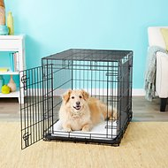Frisco Heavy Duty Fold & Carry Double Door Collapsible Wire Dog Crate, 36 inch