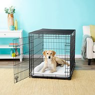Frisco Heavy Duty Fold & Carry Double Door Collapsible Wire Dog Crate, 48 inch