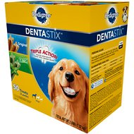 Pedigree Dentastix Large Original & Fresh Variety Pack Dog Treats, 50 count