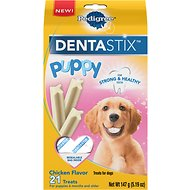 Pedigree Dentastix Puppy Chicken Dog Treats, 21 count