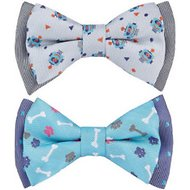 Blueberry Pet Handmade Go For Fun Dog & Cat Bow Tie Set in Gift Box, 2 count