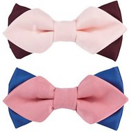 Blueberry Pet Handmade Dog & Cat Bow Tie Set in Gift Box, Versatile Satin, 2 pack