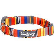Blueberry Pet Nautical Prints Dog Collar, Medium, Nautical Flags