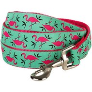 Blueberry Pet Spring Prints Dog Leash, Pink Flamingo on Light Emerald, 4-ft, 1-in