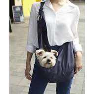 Alfie Pet Chico 2.0 Reversible Pet Sling Pet Carrier, Brown & Denim