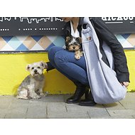 Alfie Pet Chico 2.0 Reversible Small Breed Pet Sling, Grey & Denim